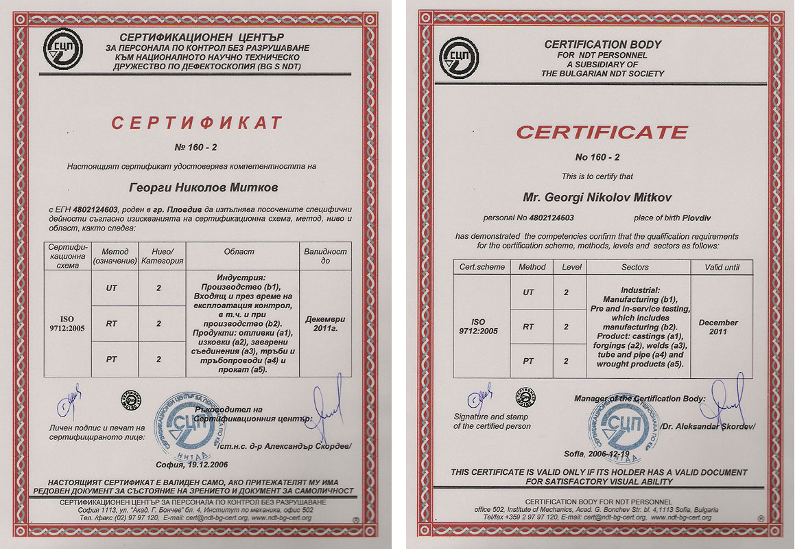 Termotehnica ttd plovdiv licences certificate for competence of personnel 160 1 xflitez Image collections